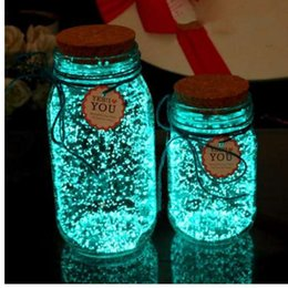 $enCountryForm.capitalKeyWord NZ - Magic Fluorescent Glow in the Dark Luminous Party Bright Paint Star Wishing Bottle Particle Luminous Sand Toys for Children Gift