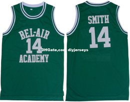 Wholesale Cheap Customize The Fresh Prince of Bel Air Academy Retro Basketball Jerseys Will Smith Green XS XL