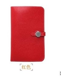 LuxuryHERMES&#wallet woman handbag bag passport ID credit card holder cowhide clutch genuine leather wallet beautiful female lady purse on Sale
