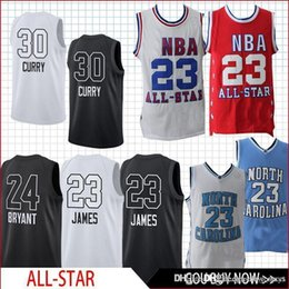 BasketBall jersey star online shopping - All Jersey Star Game Curry James Kobe basketball Jersey men fans clothes printed basketball Jersey