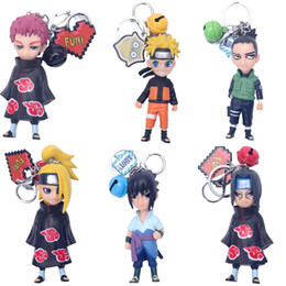 Wholesale naruto hatake cosplay for sale - Group buy Cartoon dolls Anime Naruto Keychain Cosplay Prop Accessories Uchiha Itachi Hatake Kakashi Uchiha Sasuke Jewelry Keyring Pendant