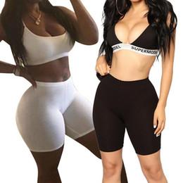 $enCountryForm.capitalKeyWord Australia - Casual Women High Elastic Waist Tight Fitness Slim Skinny Dancing Shorts Solid Color Exercise Shorts For Female Girls Teenager