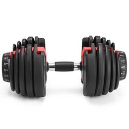 venda por atacado Em estoque, peso de halteres ajustável 5-52.5lbs exercícios de fitness halteres tonificar a sua força e construir seus músculos