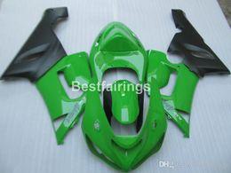 $enCountryForm.capitalKeyWord Australia - Free customize plastic fairing kit for Kawasaki Ninja ZX-6R 636 05 06 green black fairings set ZX6R 2005 2006 MS23