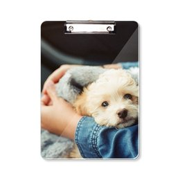 Puppy Cute Animal Photography Clipboard Folder Writing Pad Backing Plate A4