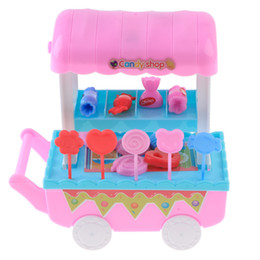 trolley cart toy NZ - 28PCS Young Kids Pretend Play Ice Cream Candy Shop Trolley Hand Cart Children Educational Toy Role Play Game Play Activity