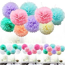 $enCountryForm.capitalKeyWord Australia - new years eve party supplies 9pcs Tissue Paper Pompoms Flower Balls christmas ornaments balls colored styrofoam navidad