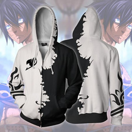 Tail Clothing NZ - 3D Anime FAIRY TAIL Natsu Cosplay Costumes Sweatshirts Men Casual Clothes Hoodie Fashion Halloween Zipper hooded Jacket