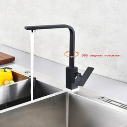 paint kitchen faucet Australia - Black Paint Spray Stainless Steel Singe Handle Hot Cold Water 360 Degree Swivel Mixer Tap Basin Faucet For Kitchen Bathroom
