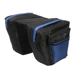 $enCountryForm.capitalKeyWord Australia - Tourbon Bike Accessories Blue Nylon Cycling Bike Bicycle Double Pannier Bag Rear Rack Bag Shopping Storage