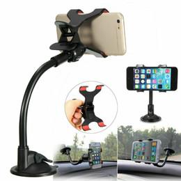 Universal 360 degrés de rotation Ventouse Support de téléphone mobile voiture pare-brise GPS Fixation du support Cradle pour iPhone Samsung Huawei en Solde