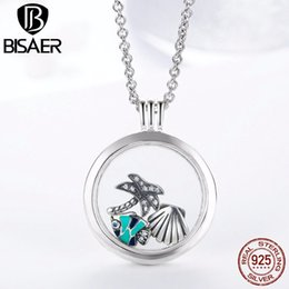 Floated glass online shopping - Genuine Sterling Silver Medium Petite Memories Floating Locket Necklaces Pendants Women Sterling Silver Jewelry EDF001