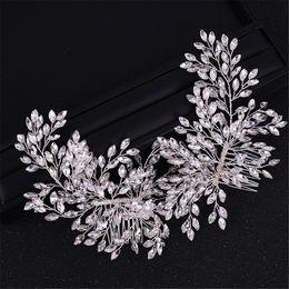 Rose Gold Hochzeit Haar-Kamm-Brauthaarspange Strass Haarschmuck Kopfschmuck-Handgemachte Perle wulstige Side Kamm für Bräute und bridesmai im Angebot