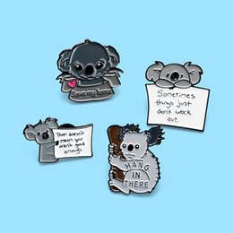 koala bear jewelry Canada - Save my home lovely koala bear Pin Badges Brooches Metal Enamel pins Costume Jewelry Backpack Shirt Accessories