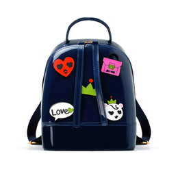 b1ce1d0b256b Jellyooy Girls Women Cartoon Mini Candy Color PVC Jelly Backpack Beach Bag  Kid Waterproof Silicone Shoulder School Bags