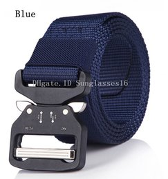 $enCountryForm.capitalKeyWord Australia - 125cm 38mm Men Belt Mens Designer Belts Ceinture Blue Tactical Quick Release Automatic Nylon Buckle Alloy Outdoor Sports Waist Strap Belts