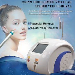 Discount skin pigmentation treatment - CE portable 2 in 1 diode laser 980nm machine skin rejuvenation pigmentation Vascular Removal spider vein treatment equip