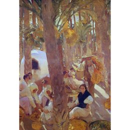 Palms Oil Australia - Beach Paintings The Palm Grove Joaquin Sorolla y Bastida oil on canvas Hand painted wall decor
