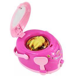 Pink Toy Kitchen Set Australia - Vibration Children's Mini Kitchen Toy Set Simulating Small Appliances Over Home Toys Mini Rice Cooker