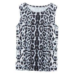 319699f8655068 Womens Summer tank top Casual Leopard Vest Sleeveless halter Tops ladies  fashion loose T Shirt Top camisetas tirantes mujer 2019
