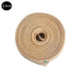 China 10 m roll fish silk jute woven ribbon rope linen accessories birthday cake wedding decoration cheap jute ribbon wholesale suppliers