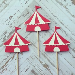 $enCountryForm.capitalKeyWord Australia - Custom personalityh Circus Tent Themed Birthday Cupcake Topper. Cupcake Decoration. Secret Garden Party Decoration