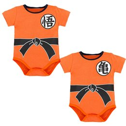 cartoon chinese dragons UK - Summer cotton Baby Rompers Toddler Jumpsuit spring Baby Girls boys Newborn baby Short sleeve clothing Dragon Ball Z Goku Infant