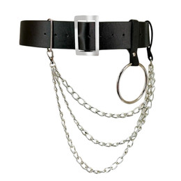 $enCountryForm.capitalKeyWord Australia - Women Pu Leather Harness Body Belts With Chain Waist Bondage Garters Punk Adjustable Suspender Straps