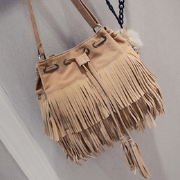 $enCountryForm.capitalKeyWord Australia - 2018 Faux Suede Fringe Women Messenger Bags Tote Luxury Ladies Handbag Tassel Shoulder Vintage Crossbody Big Bag bolsa feminina
