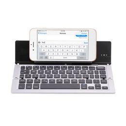 $enCountryForm.capitalKeyWord UK - 59 Key Bracket Ergonomic Bluetooth Aluminum Alloy X Architecture Keyboard Wireless Rechargeable USB Folding Ultra Slim Portable