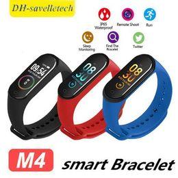 $enCountryForm.capitalKeyWord Australia - Intelligent Watch M4 Smart Bracelet Heart Rate Monitor Calories Waterproof IP67 Smart Band Fashion Watch Sport for iOS Android Smartphones