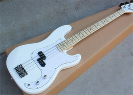 $enCountryForm.capitalKeyWord Australia - Wholesale Custom White 4 Strings Electric Bass Guitar with White Pickguard,Chrome Hardwares,Maple Fingerboard,can be customized.