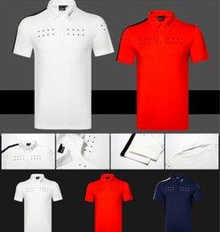 Großhandel 2019Golf Männer Sportbekleidung Kurzarm T-Shirt 4 Farben Kleidung S-XXL Freies Verschiffen
