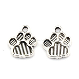 China Paw Print Alloy charm Pendants 200Pcs lot Antique silver Fashion Jewelry DIY Fit Bracelets Necklace 12*15mm cheap fashion jewelry beads wholesale suppliers