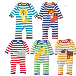 $enCountryForm.capitalKeyWord NZ - Organic Cotton Baby Rompers Wholesale Baby Clothes Cotton Childrens Watermark Articles Animal Romper Jumpsuits Robes Childrens