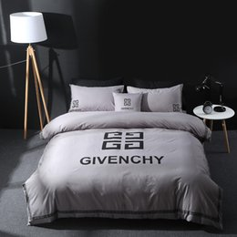 brands bedding sets Canada - Brand Design DoublBedding Set Polyester Cotton Soft Bed Linen Duvet Cover Pillowcases Bed Sheet Sets Home Textile Coverlets 4 PC Lot 99