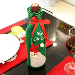 $enCountryForm.capitalKeyWord Australia - New 1 Pcs Christmas Wine Bottle Bag Cover Home Christmas Decoration Bottle Sets Decoration Ornament SF66