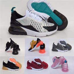 kids shoes size 24 UK - 2020 New 27O React Kids Shoes Boy Girls Running Shoes Black White Hyper Bright Violet Toddler Children Sneakers 24-35 #872