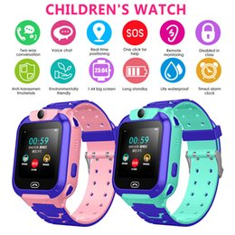 pink kids smart watch Australia - Anti-lost Smart Watch GPS Tracker SOS Call GSM SIM Xmas Gifts For Child Kids