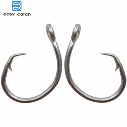 Stainless Fish Hooks Australia - hook clothes Easy Catch 20pcs 39960 Stainless Steel White Offset Tuna Circle Bait Fishing Hook Size 8 0 9 0 10 0 11 0 12 0 13 0