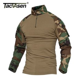 a72e37e67 Tacvasen Camouflage T-shirts Men Army Combat Tactical T Shirt Male Airsoft  Military Clothing Long Sleeve Cotton Assault T-shirts J190525