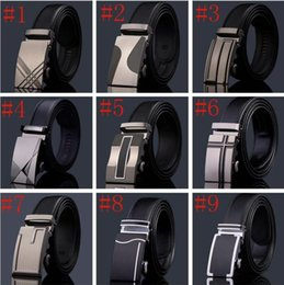 Wholesale More Style Fashion luxury designer belts men genuine leather belt business casual automatic buckle belt black mens belt without gift box