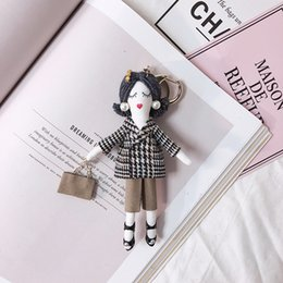 $enCountryForm.capitalKeyWord Australia - 13 Styles Fashion Cute Girl Doll Key Chain Car Keyring House Key Holder Bag Pendant Charm Keychain Girls Gift