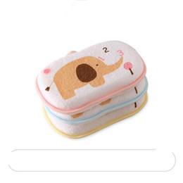 Wholesale New Newborn Baby Cartoon Bath Sponge Tools kids Body Wash Sponge Exfoliating Shower Spa Free Shipping