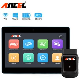 Wholesale Ancel X5 Pro OBD2 Wifi Car Diagnostic Tool Scanner Automotive Professional Tablet Scan with Keyboard in Arabic Polish