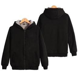 $enCountryForm.capitalKeyWord Australia - 2019 new men's Solid color thick hoodie jacket autumn and winter Korean zipper sports plus velvet thick warm men's jacket