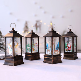 small candle holders NZ - Christmas Candlestick Lantern Light Candle Holder Lamp Bulb Home Party Decor Tree Small Ornaments Mall Window Bar Party Supplies
