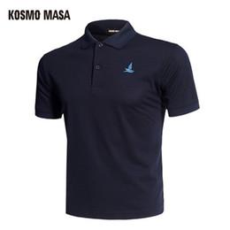 Black Polo Men Australia - Kosmo Masa Cotton Black Shirt Mens Short Sleeve Summer Casual Solid Male Polo Shirts Dry Slim Fit Polos For Men Mp0001 Q190516