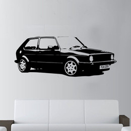 car sticker designs graphics Australia - Special Design Vintage XL Large Car VW Golf GTI Mk1 Classic Wall Art Decal Sticker Home Decoration Art Mural Room Sticker