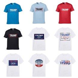 Wholesale trump shirts online – design 2020 Spring Summer Fashion Designer Brand Trump T Shirt Embroidered Tiger Wolf Short Sleeved Trump T Shirt Men S Youth Trump T Shirt